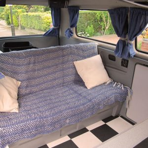 VW Campervan rental london VW T25 multivan rear bed