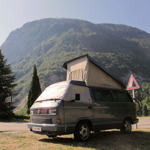 VW campervan rental London VW T25 campervan automatic wild camping